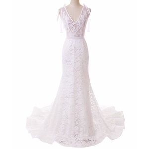 Dresses & Skirts - Sexy Little Mermaid Full Lace Open Back Gown,2-20W